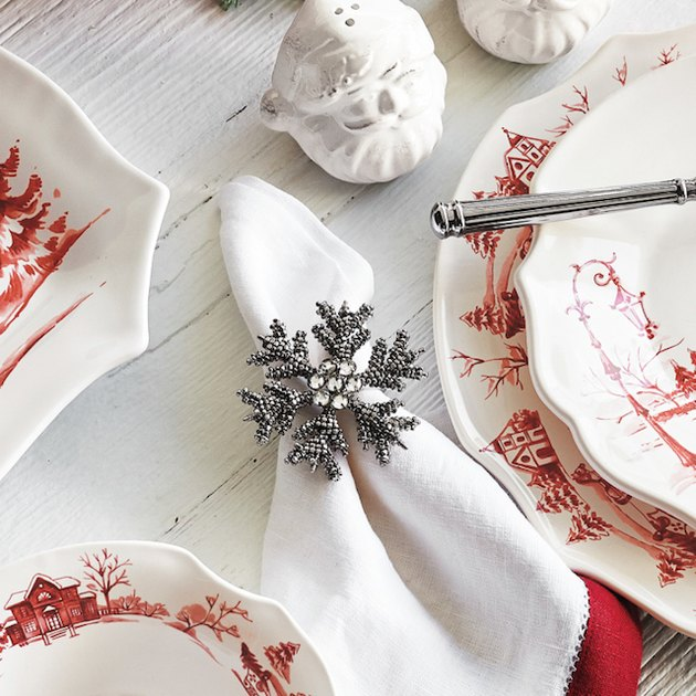 beaded snowflake napkin rings