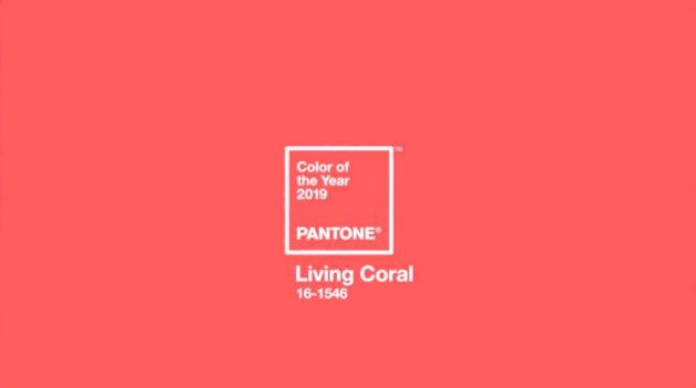 Pantone Living Coral swatch