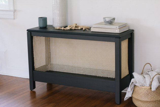 Help the IKEA Havsta console table look design-worthy using cane.