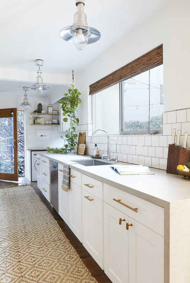 Waterfall Countertop in Kitchen by Emily Henderson