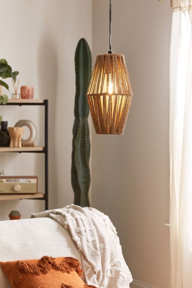 woven rope light fixture
