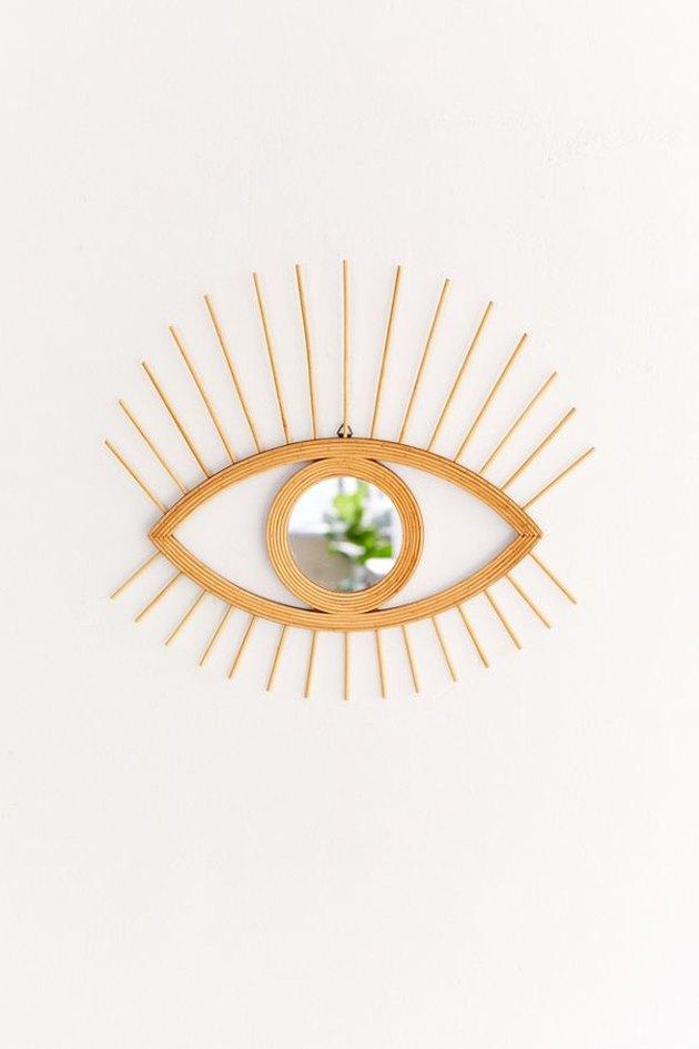 Urban Outfitters Rattan Eye Wall Mirror