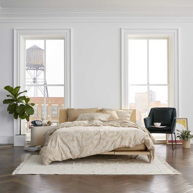 boho linen bed cover