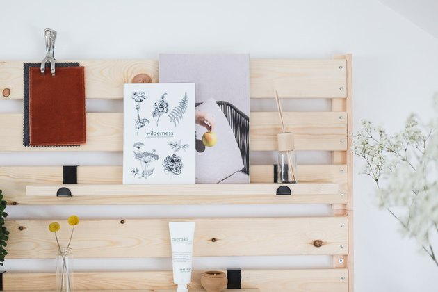 IKEA wood shelving unit organizer