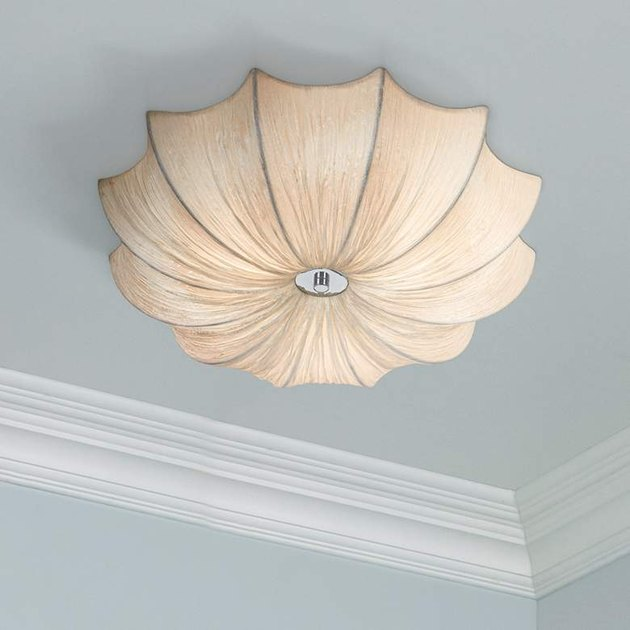 scalloped fabric light fixture