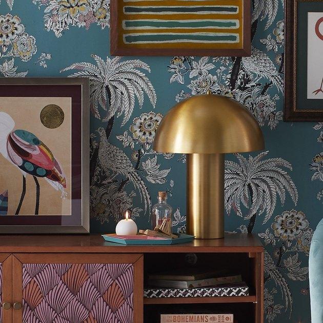 Drew Barrymore Flower Antique Brass Retro Table Light