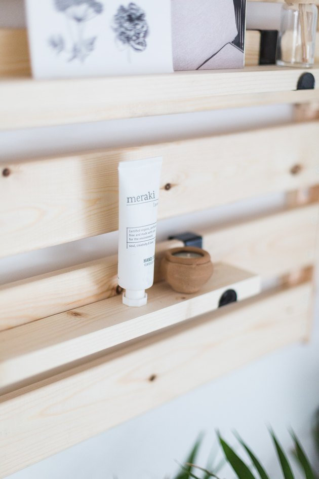 Turn a Simple Pine Shelf Into Minimalist Wood Slat Shelving