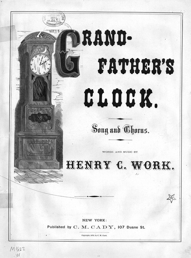 Grandfather's clock sheet music