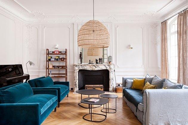 classic parisian living room