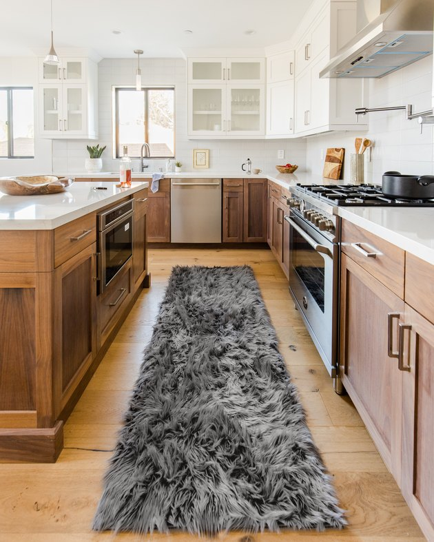 Ruggable Shag Collection Dark Gray rug runner