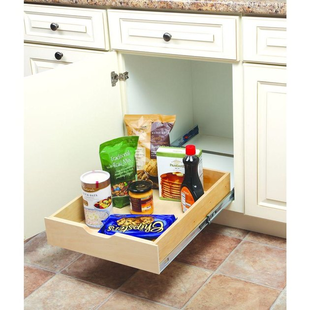 sliding kitchen cabinet organizer