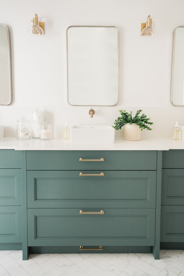 pine colored bathroom cabinets
