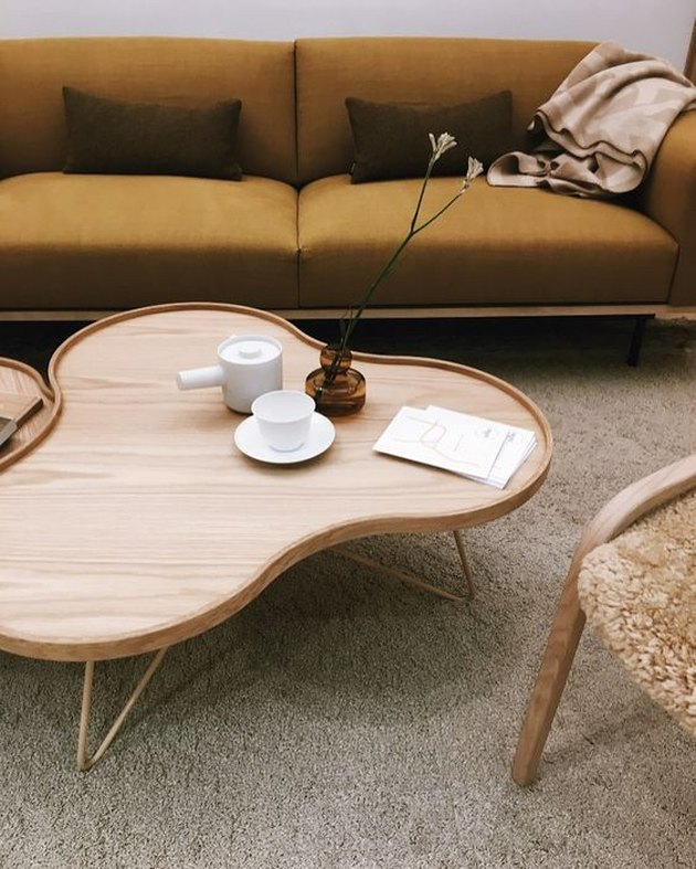 Stockholm Design Week 2020 with Swedese sofa and wavy coffee table