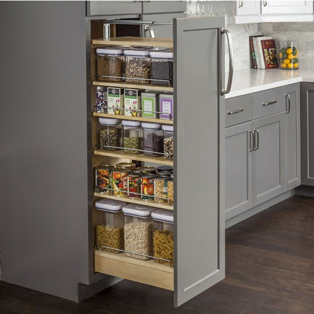 small kitchen pullout pantry drawer