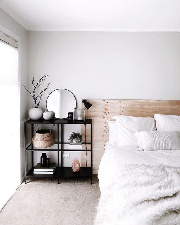 modern chic bedroom with minimalist look