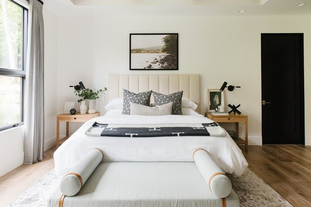 modern chic bedroom with clean lines