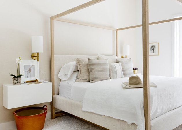 modern chic bedroom with neutral color palette