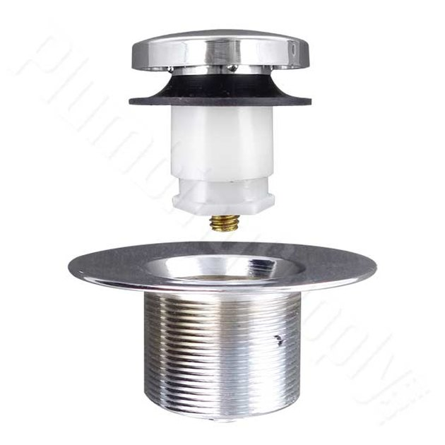 Drain stopper and flange.