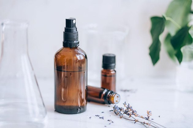 Spring-scented room spray bottle