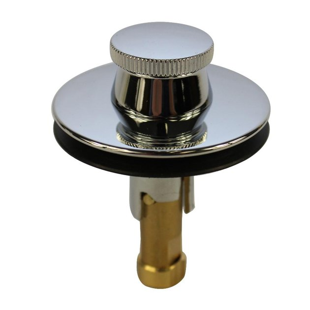 Lift-and-turn tub stopper.