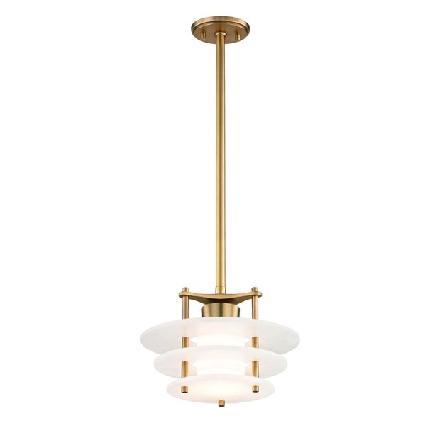 Art deco lighting in brass with circular-shaped details