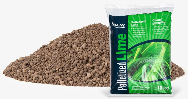 Pelletized lime.