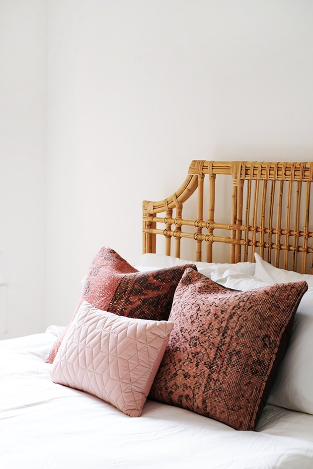 Throw pillows on bed.