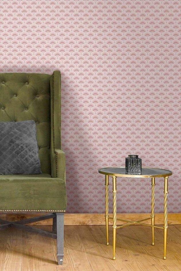 pink vintage style art deco wallpaper