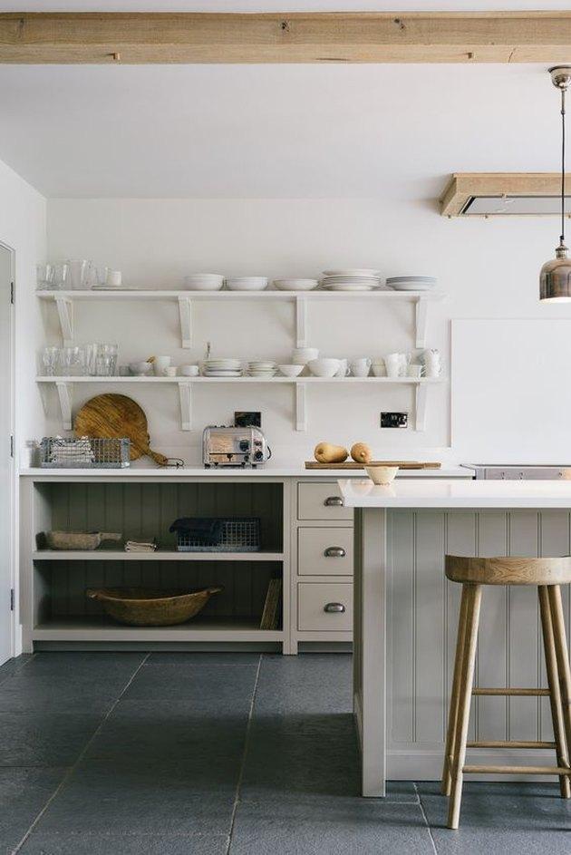 Slate kitchen floor