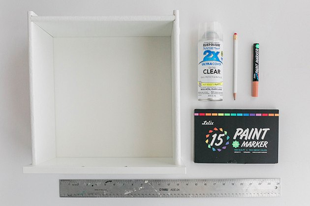 DIY supplies needed to makeover your IKEA nightstand.