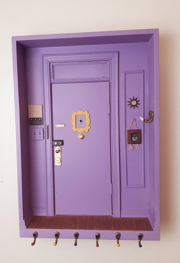 "Miniature ""Friends"" Apartment Monica Door Key Frame"