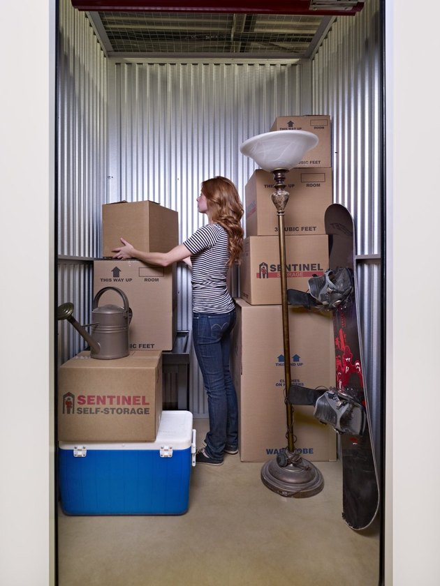 Loading a storage unit.