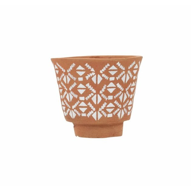 Wayfair terracotta and white pattern pot planter