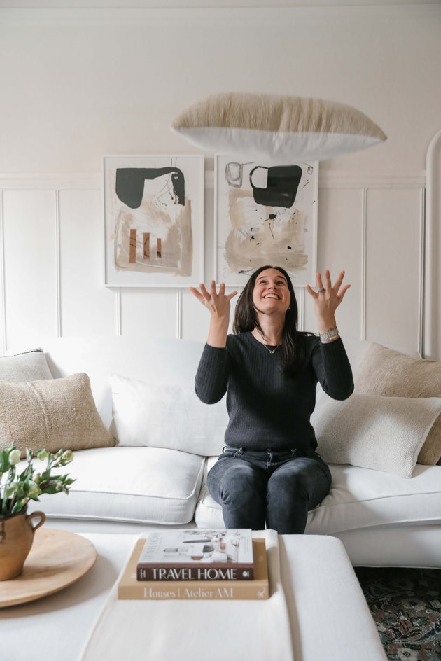 Designer Caitlin Flemming at home