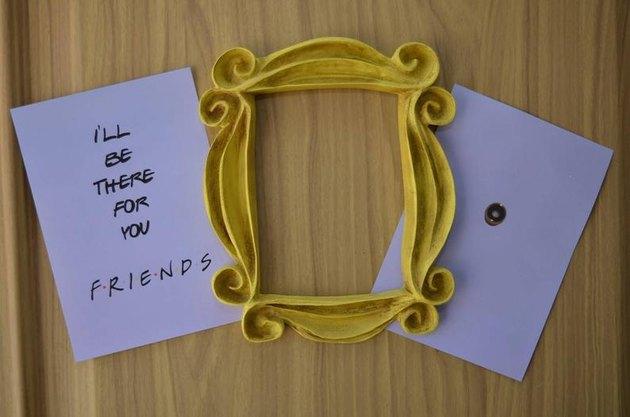"Monica ""Friends"" Peephole Door Frame"