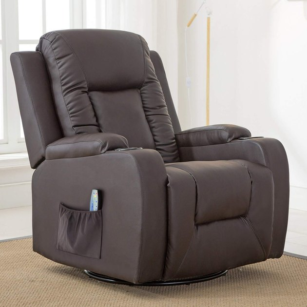 brown recliner chair