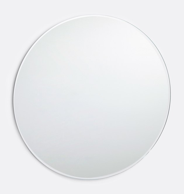 Round frameless wall mirror