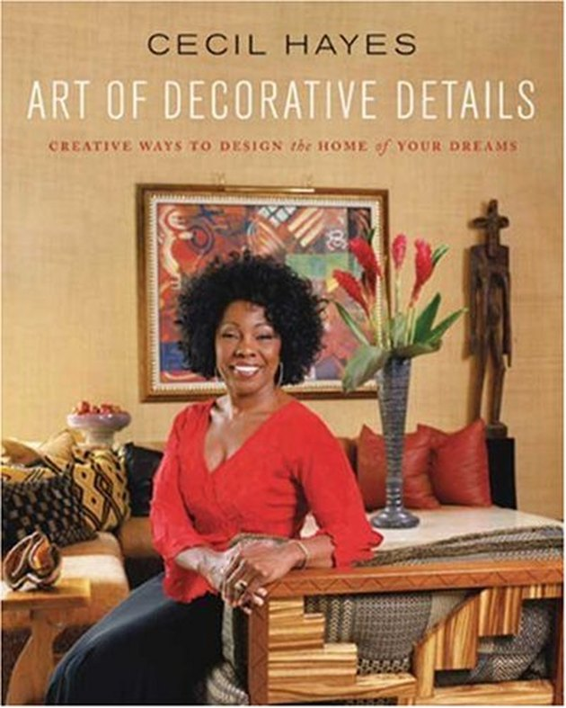 "cover of cecil hayes book titled ""art of decorative details"" with photo of cecil hayes"