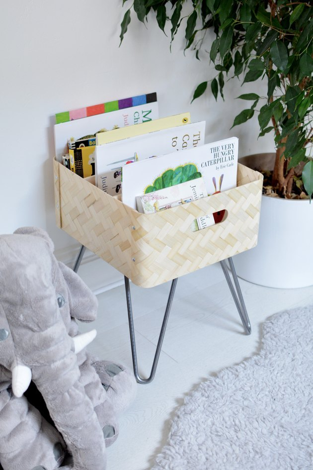 Turn IKEA decor into a book bin
