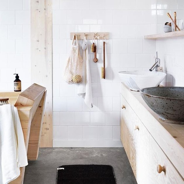 Scandinavian design bathroom