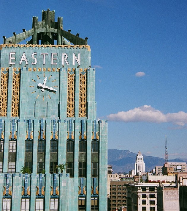 photograph of art deco style eastern building in los angeles