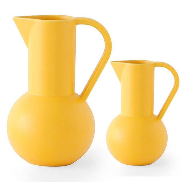 ceramic yellow jugs