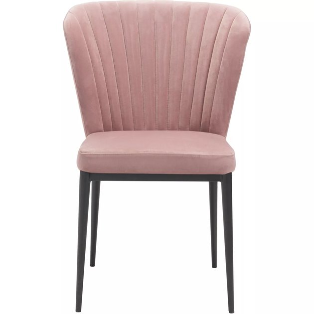 pink pleated art deco chair from Target