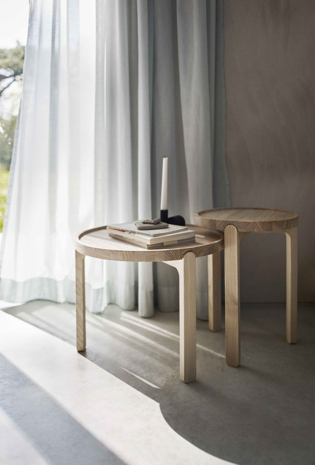 Scandinavian design side tables