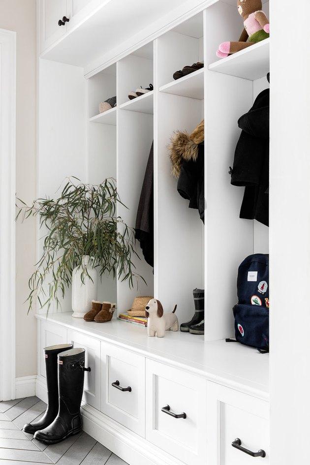 storage closet in entryway