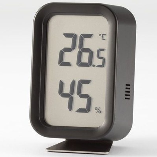 Muji digital thermometer that is a decorative accent