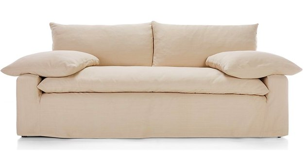 Crate & Barrel slipcovered sofa