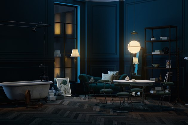 Shape of Water living room