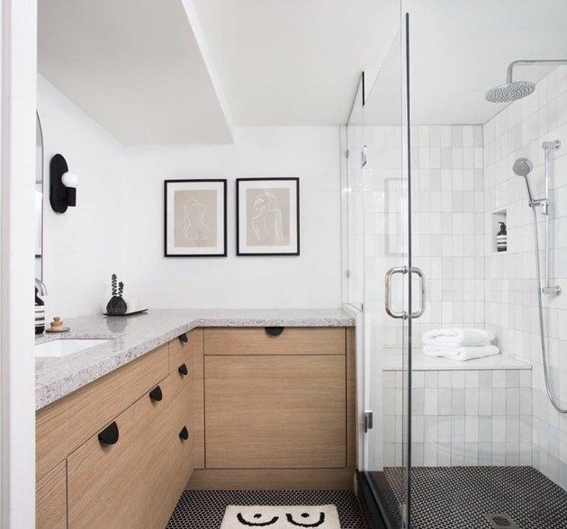 Modern L-shaped vanity