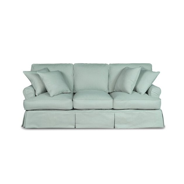 Wayfair light green Rundle Slipcovered Sofa